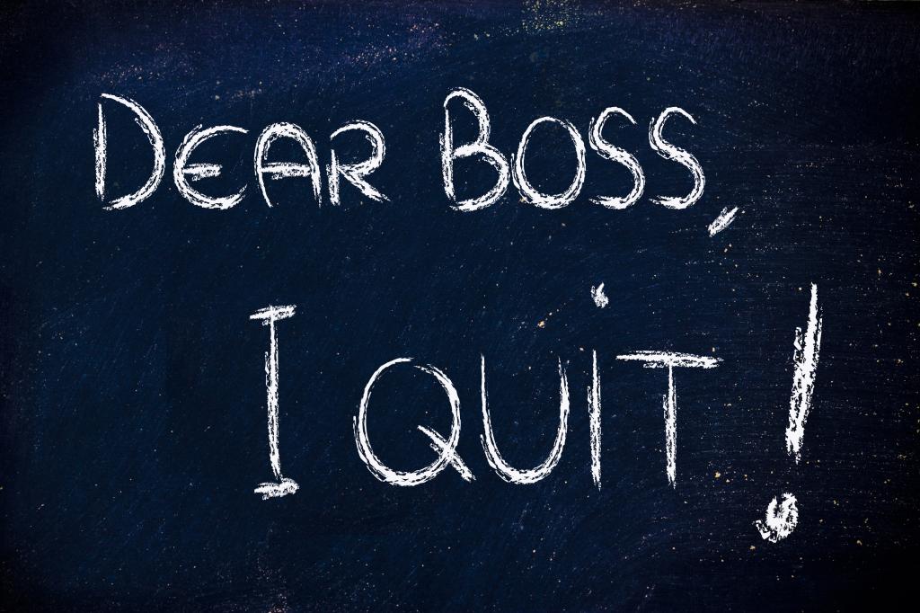 Dear Boss, I Quit: Unhappy Employee Message
