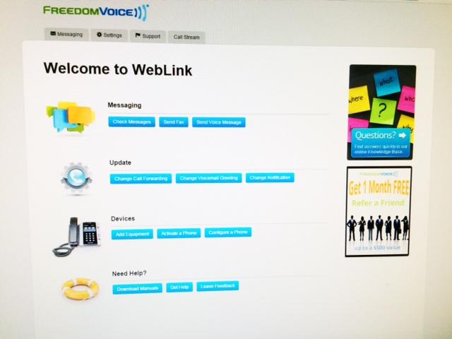 FeedomVoice online interface