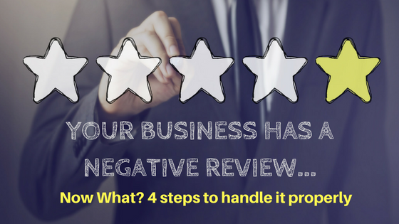 YOUR BUSINESS HAVE A NEGATIVE REVIEW...Now What-