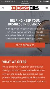 BossTek - Phone - Home Page