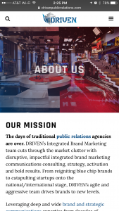 Driven Public Relations - Phone - About Page