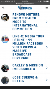 Driven Public Relations - Phone - Our Work Page
