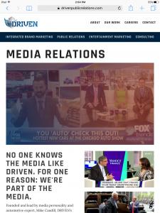 Driven Public Relations - Tablet - Media Relations