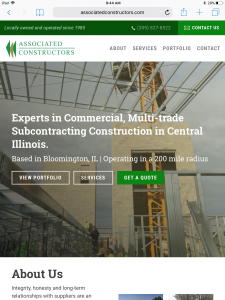 Associated Constructors - Tablet - Home Page