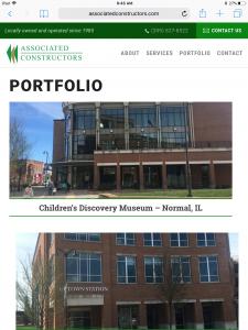 Associated Constructors - Tablet - Portfolio Page