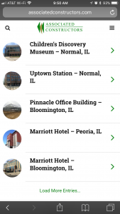 Associated Constructors - iPhone - Portfolio Page