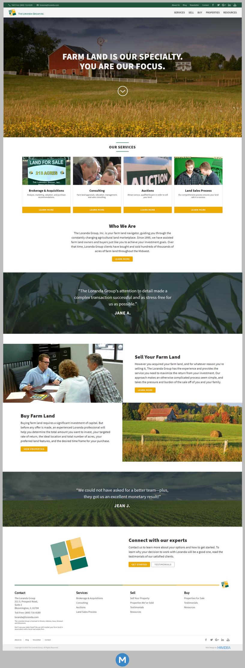 Loranda Full Homepage